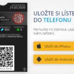 COVID19 mobilní infokarta